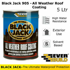 905 All Weather Roof Coat Everbuild Black Jack