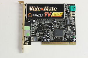 Details About COMPRO TECHNOLOGY 1MP01PP3P12 MP001PA 12 VIDEO MATE TV GOLD PLUS NTSC PCI