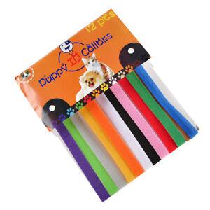 12pcs-Adjustable-Newborn-Puppy-ID-Collar-Pet-Kitten-Colors-Cat-Band-Whelping
