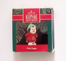 1990 Hallmark Keepsake Polar Jogger Penguin Christmas Handcrafted Ornament - Mib