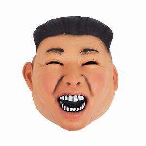 Mascara-De-Vinilo-De-Kim-Jong-Un-Adulto-Sofisticado-Vestido-dictador-Accesorio