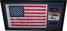 1980  Olympic Hockey Team Signed 20 autos Framed USA Flag Photo cbm holo coa