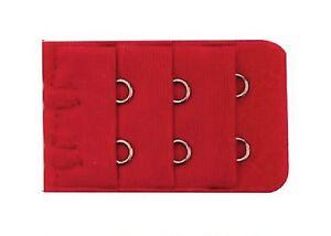 6fdef7745c63b Détails sur Accessoire lingerie 1 rallonge rouge extension soutien gorge 2  crochets - 3,5 cm