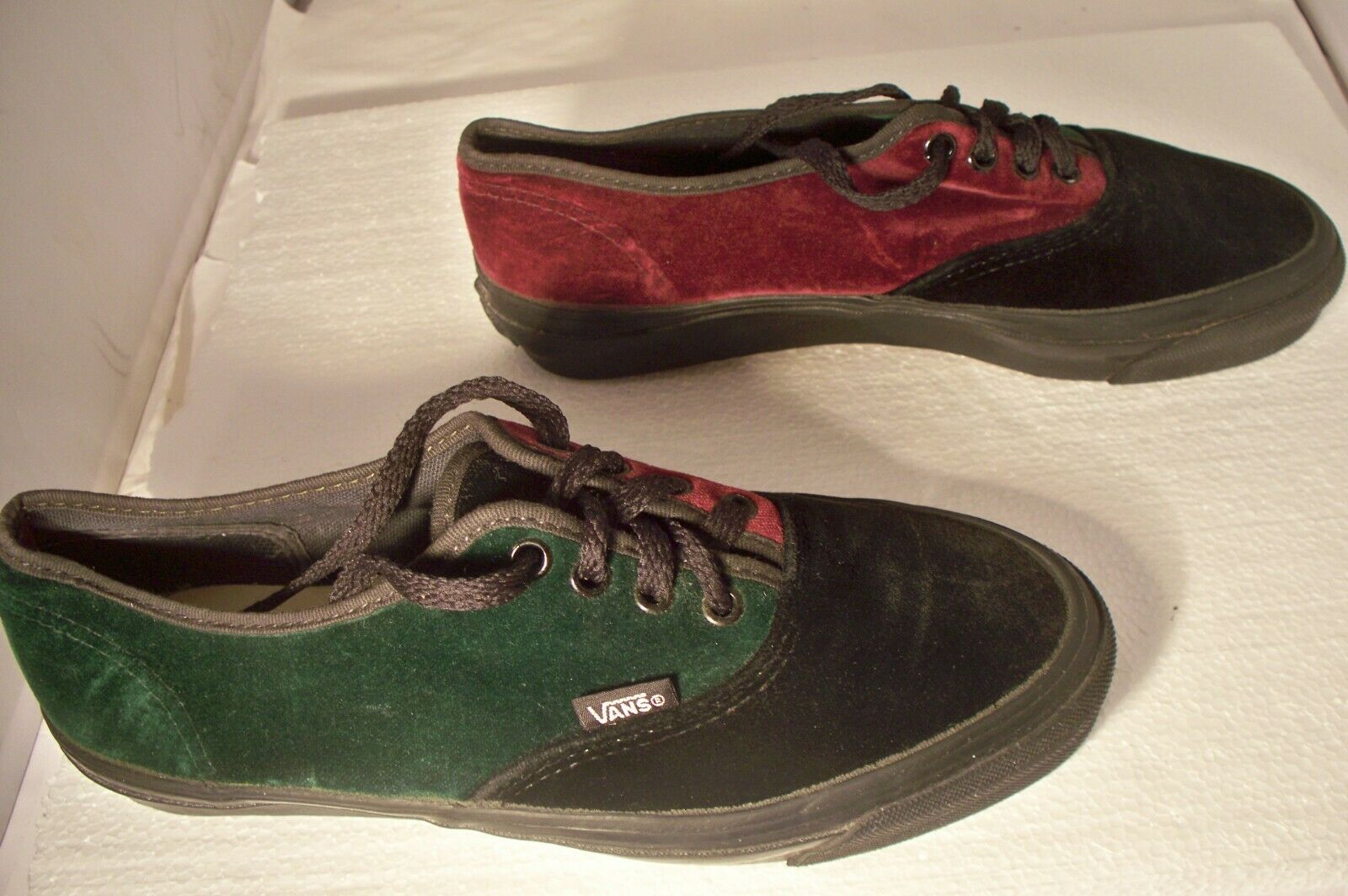 Vintage Rare HTF Vans Made In USA Velvet Shoes Wo… - image 2
