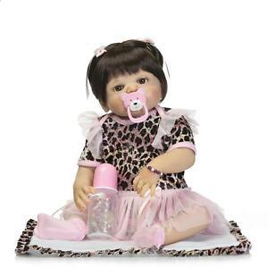 "23/""Handmade Full Body Silicone Reborn Baby Dolls Newborn Baby Girl Dolls Gift"