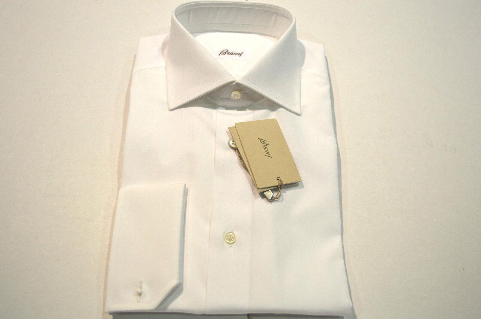 NEW BRIONI Dress White SHIRT 100% Cotton Size 15 Us 38 Eu (Store Code SE14)