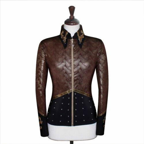LARGE  Showmanship Pleasure Horsemanship Show Jacket Shirt Rail Top Rodeo Queen