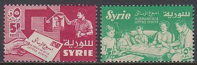 Syrien Syria 1957 ** Mi.744/45 Briefwoche Letter Week Familie Family Lesen Syrien