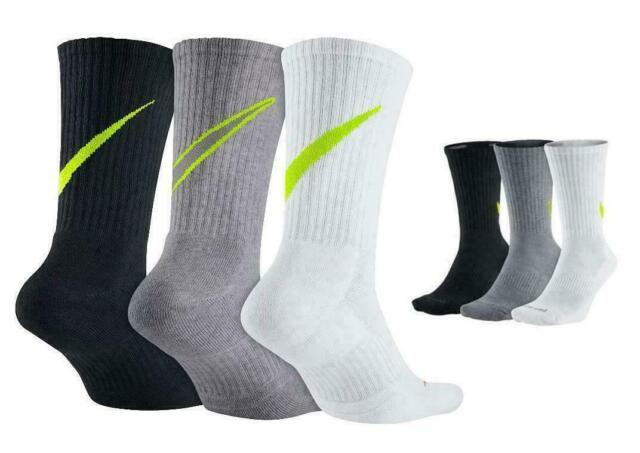 e63da05ff3b Nike Swoosh HBR Crew Socks Sx4950 3 Pair Was 8-12 Men for sale ...