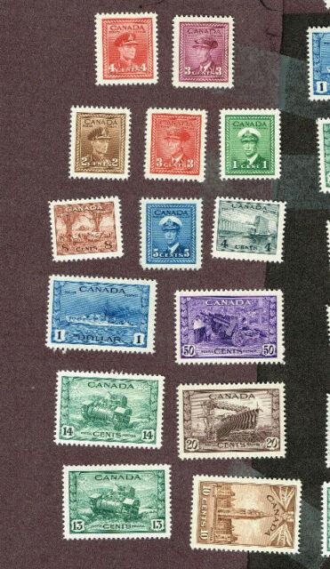 CANADA WAR ISSUE 249-262 VF MNH  (BER23,7