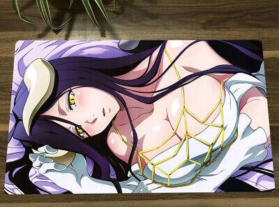 Overlord Yugioh Playmat Albedo CCG TCG Mat Anime Girl Gaming Play Mat Desk Pad