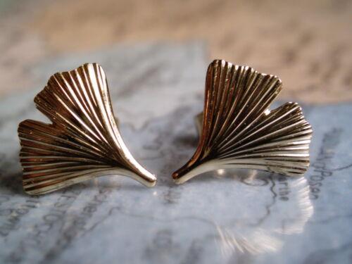 kleine Ohrstecker Ginkgoblatt Gold 333 Ginkgoblatt Ohrstecker 6 mm Gold 333