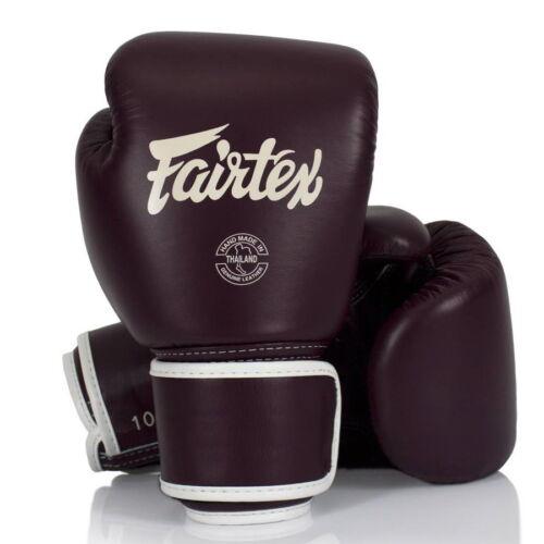 FAIRTEX BGV16 MAROON COLOR MUAY THAI KICK BOXING GLOVES MMA TRAINING WOMEN NEW