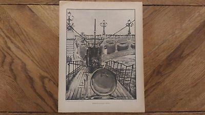 Ancienne Gravure « Arrière Du Sous-marin – Newton » Bon Etat. Suave Y Suave