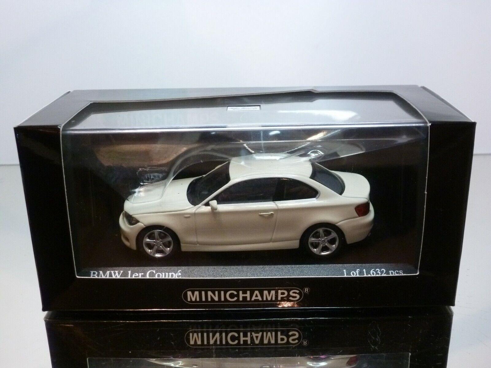acquistare ora MINICHAMPS 26220 BMW 1 1 1 SERIES COUPE - 2007 - bianca 1 43 - EXCELLENT IN scatola  negozio outlet