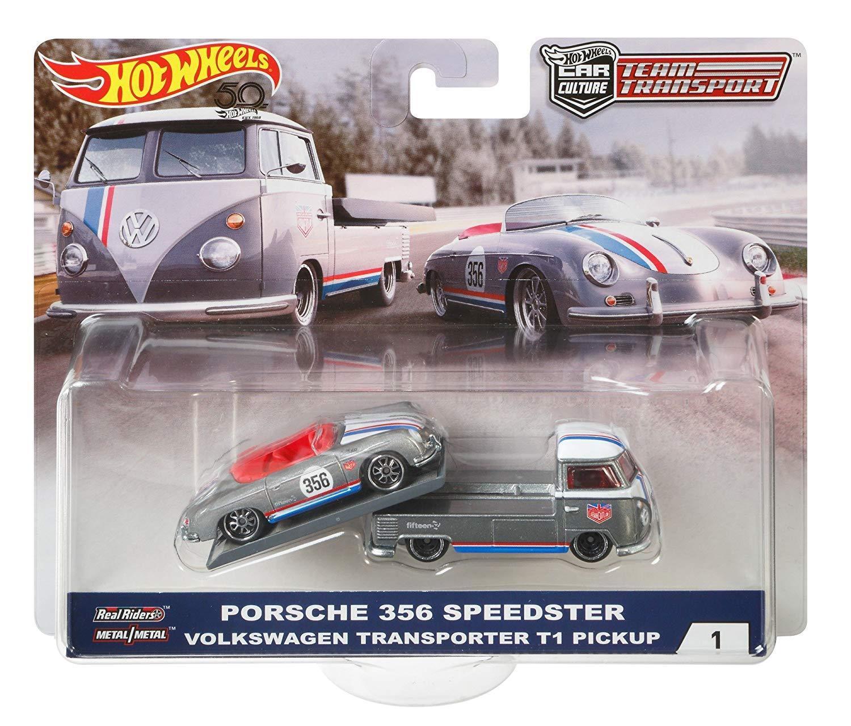 HOT WHEELS CAR CULTURE TEAM TRANSPORT PORSCHE 356 SPEEDSTER VOLKSWAGEN TRANSPORT