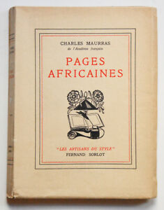PAGES-AFRICAINES-Charles-MAURRAS-F-Sorlot-1940-E-O-Un-des-15-ex-sur-japon