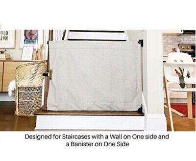 "Baby Pet Gate Banister to Banister Stair Barrier Indoor Outdoor Beige 42/"" 52/"""