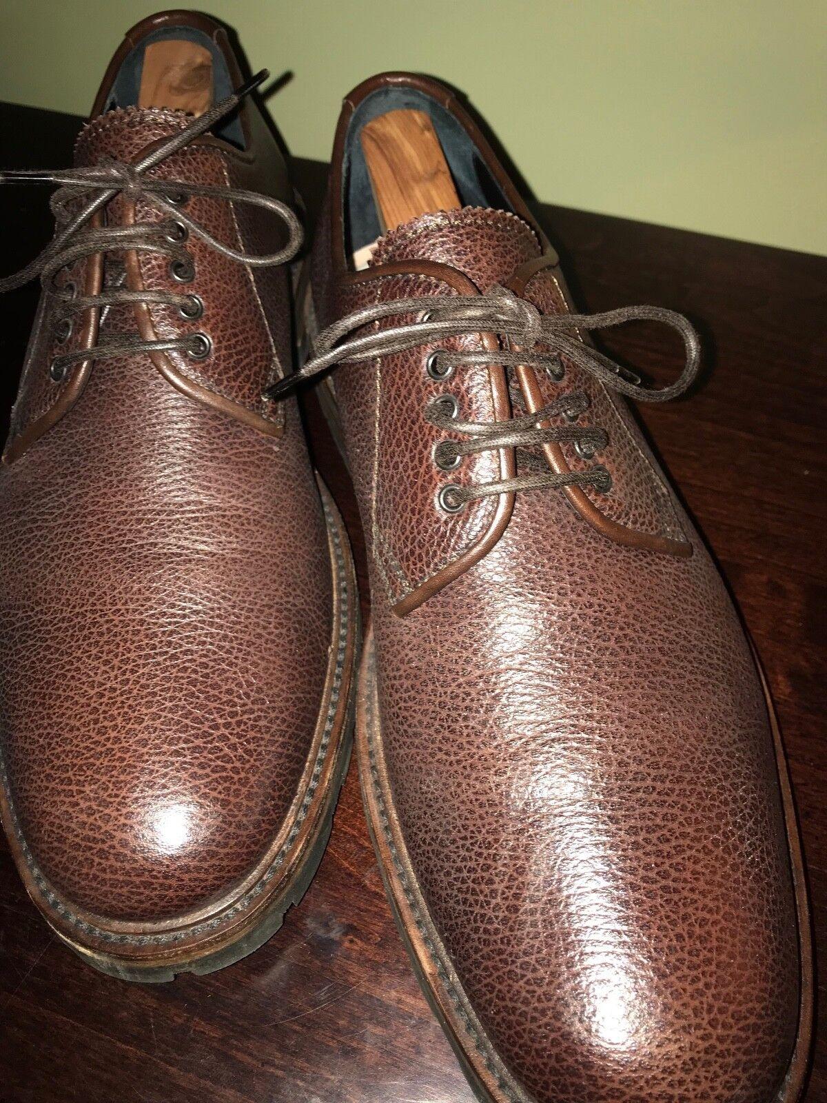 AQUATALIA Brown Leather Lace Up  James Pebbled Nappa  Dress Size 12M worn twice