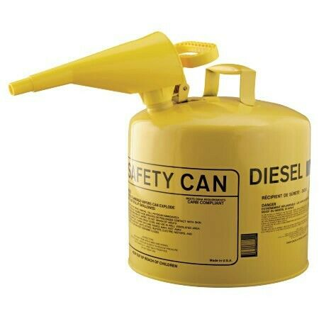 Eagle UI50FSY Type I Safety Can 5 Gal Yellow for sale online