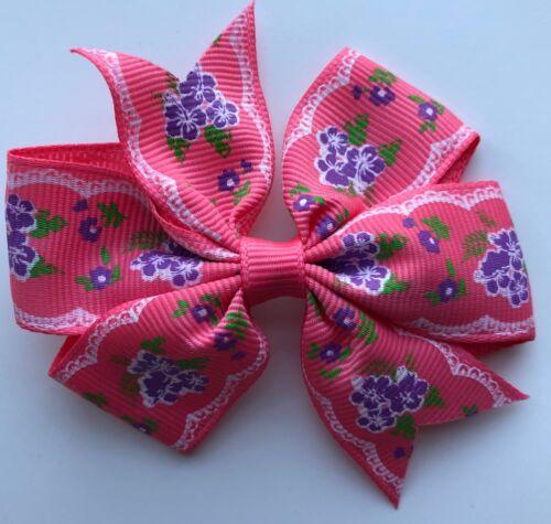 Flower Bunch Designs Hair Bows