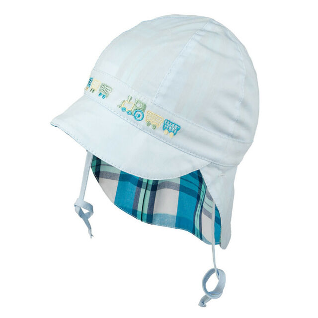 3e60f9365 Tie up 100 Cotton Hat With UV 30 Sun Protection Spring Summer Baby ...