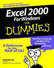 EXCEL 2000 for Windows For Dummies by Greg Harvey (Paperback, 1999)