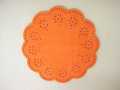 (gz022) Lote 50 Tules Blonda Organza Detalle Boda Comunion Bautizo Calado Naranj
