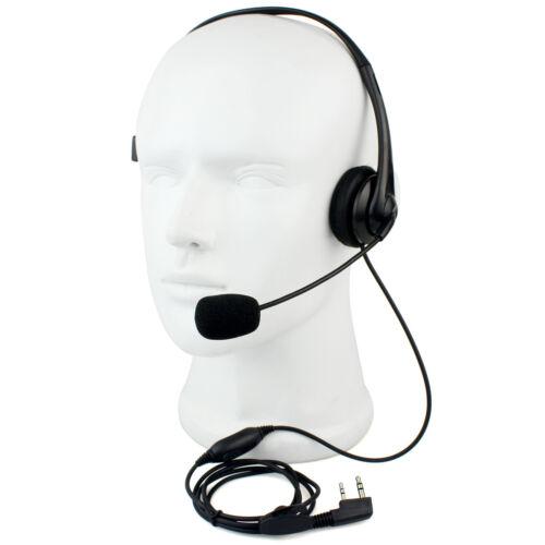 2-PIN Mic Headset Earpiece for PUXING WOUXUN TYT BAOFENG UV5R 888S Radios US