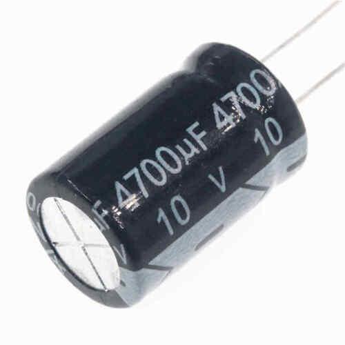 10pcs 10v 4700uf 10volt 4700mfd 105c aluminum electrolytic capacitor 13×20mm