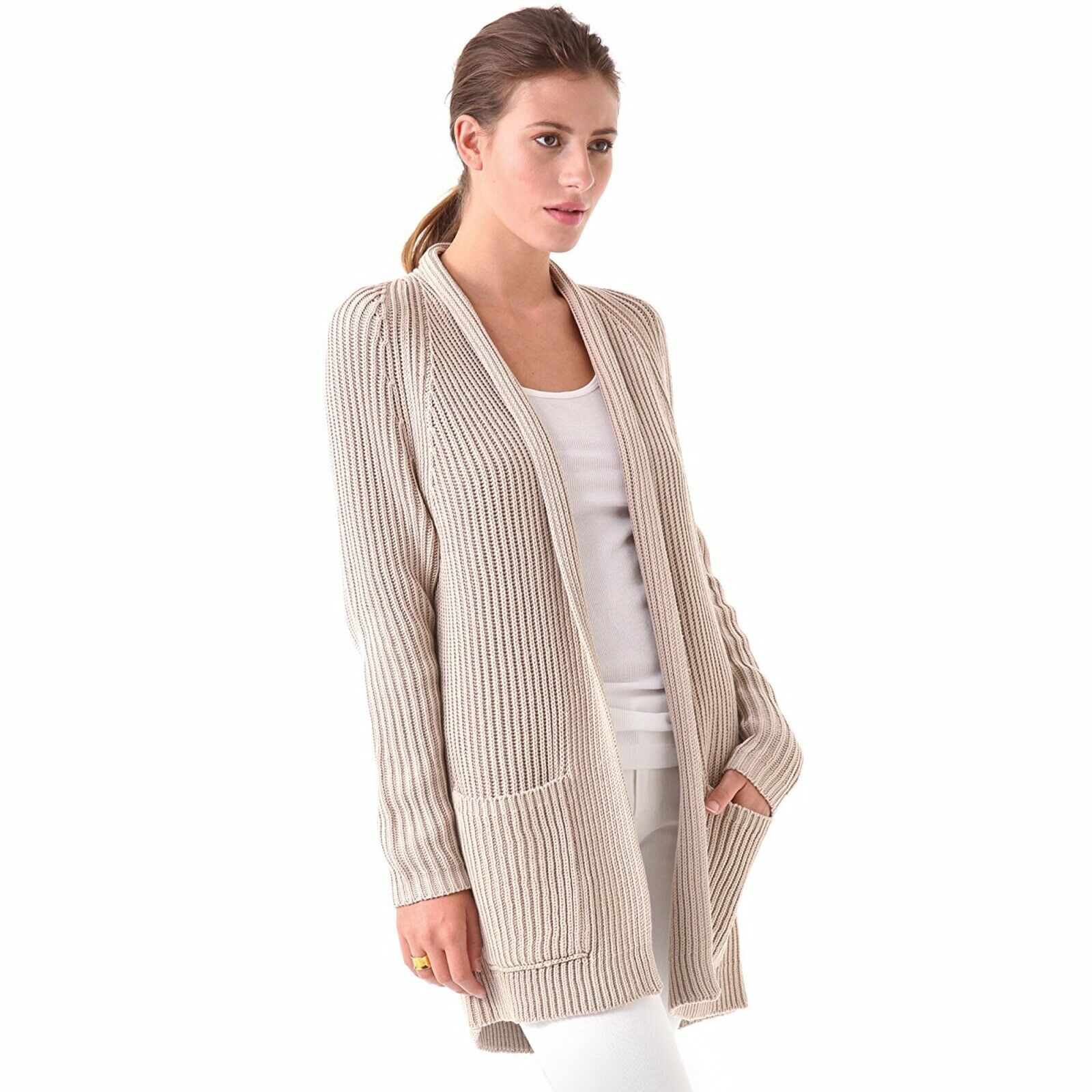 Vince Long Cardigan In Chalet (size L)