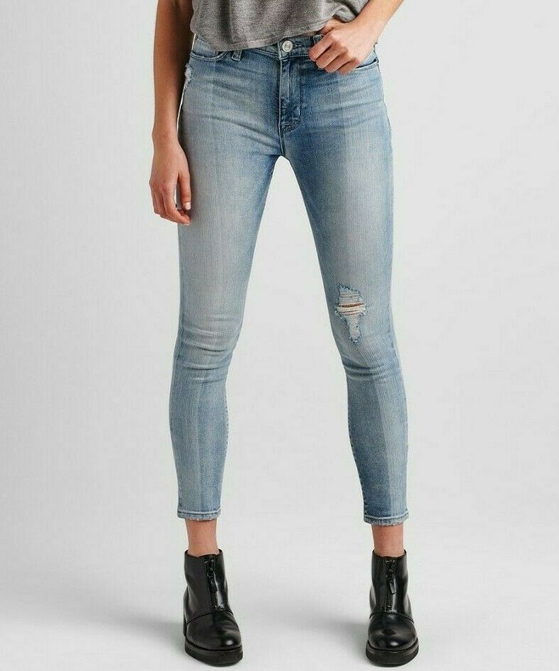 Nwt Hudson Sz29 Barbara Hoher Ausschnitt Skinny-Stretch Jeans Pur