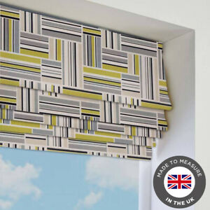 Green-Striped-Patterned-Roman-Blind-Blackout-Made-To-Measure-In-The-UK
