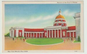 1939-Unused-Postcard-New-York-Worlds-Fair-Section-of-the-Court-of-States-NYC-NY