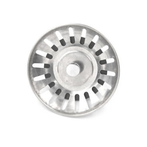 Kitchen-Stainless-Steel-Basin-Drain-Dopant-Sink-Strainer-Basket-Waste-Fil-RK