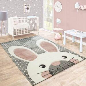 Image Is Loading Kids Rug Grey Uni Nursery Rugs Neutral Rabbit