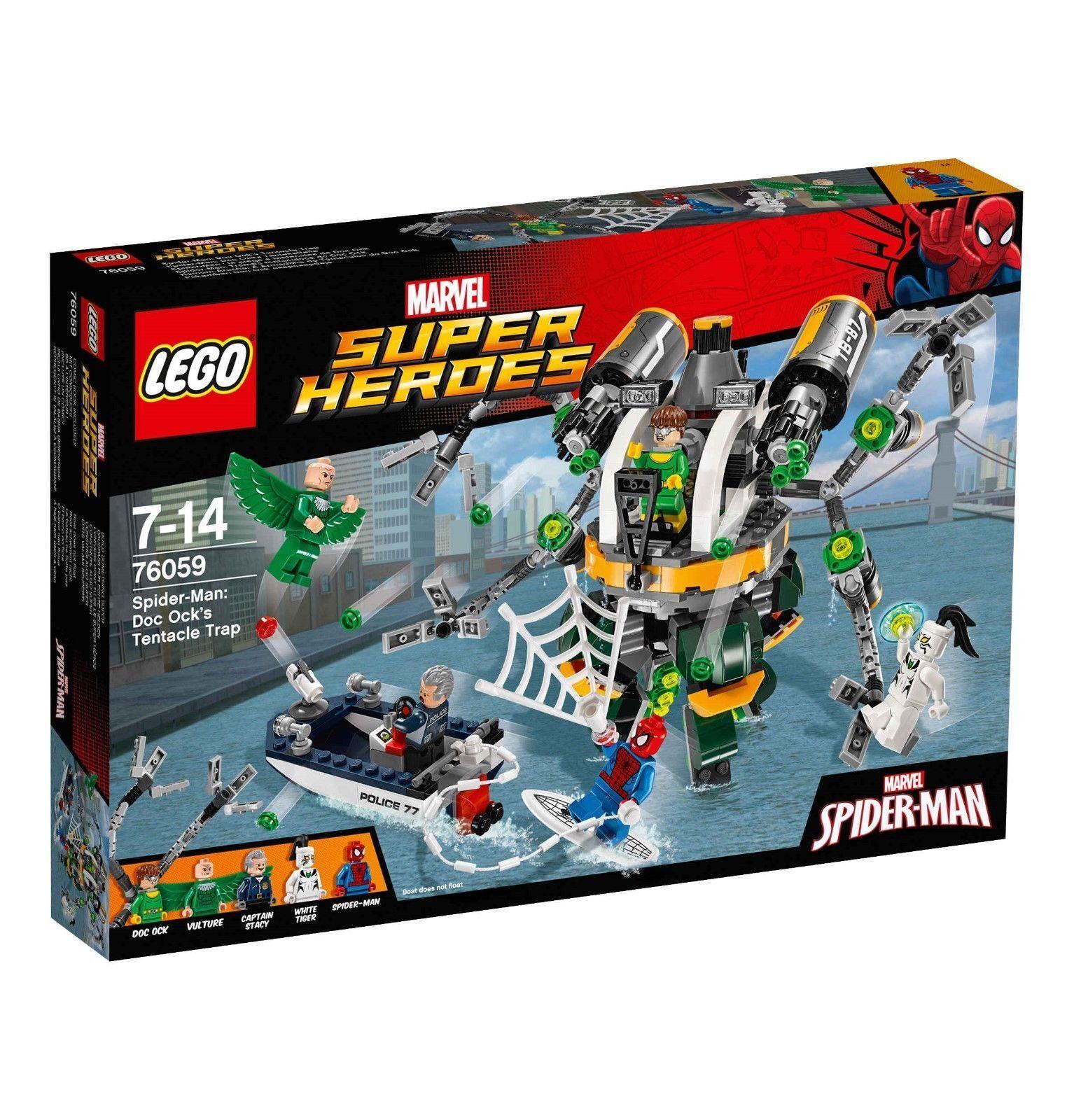 LEGO ® MARVEL SUPER HEROES 76059  Spider-Man  DOC ocks tentacoli caso  Nuovo Scatola Originale