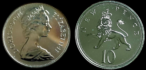 10p coin size