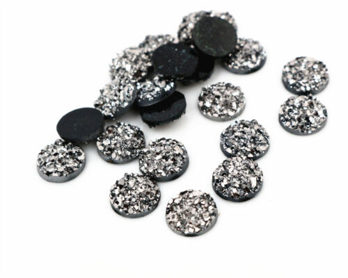 10mm Druzy Style Resin CabochonsChoice of 10 Colours or MixedPack of 40pcs