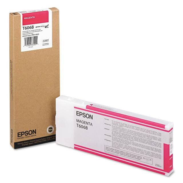 Epson T606B Ink Magenta GENUINE EPSON T606B NEW IN BOX EXP-12-2018