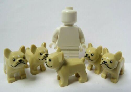 Lego 5 French Bulldog Frenchie Puppy Dog   Minifigure Not Incl  Animal Pet