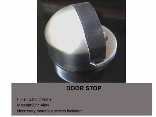 10x Door Stops Door Stoppers halp moon floor mounted Satin Brushed finish 4430