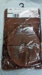 3 piece chocolate / brown color Bathroom Set