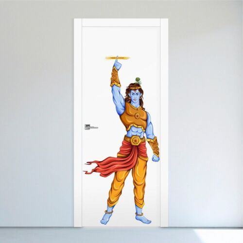 lord Krishna and Sudarshana Chakra Art Wall Sticker Vinyl Decal Home Décor