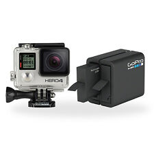 GoPro HERO4 Silver Camera & Dual Battery Charger Bundle - Certified Refurbished