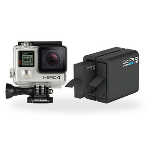 GoPro HERO4 Silver Camera & Dual Battery Charger Bundle - Certified Refurbished