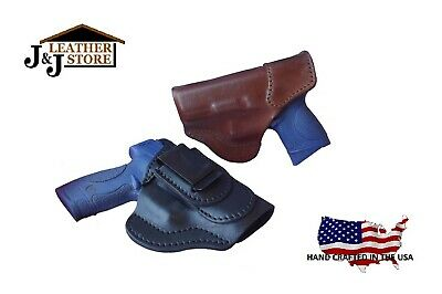 J/&J S/&W M/&P SHIELD 45 M2.0 W// FACTORY CT LASER OWB FORMED LEATHER HOLSTER