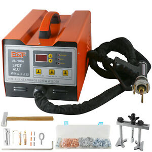 Stud-Dent-Welder-Car-Body-Panel-Repair-Dent-Puller-Kit-w-Hammer-220V-7500A