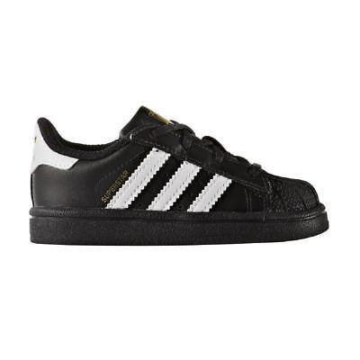 Scarpe sportive bambino ADIDAS Superstar TD pelle con lacci nero e bianco BB9078 | eBay