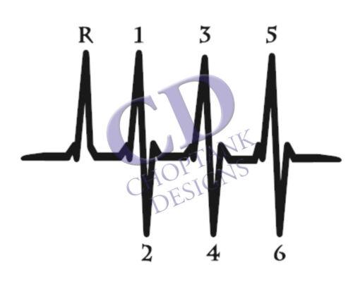 6 or 5 Speed Heartbeat decal car sticker jdm girly racing lifeline